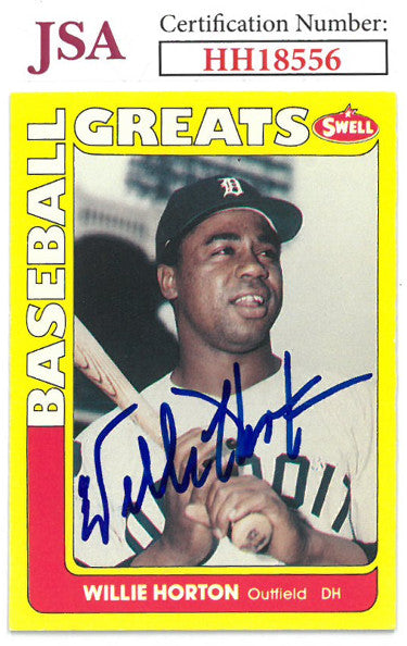 Willie Horton signed 1990 Swell Baseball Greats Card #41- JSA #HH18556 (Detroit Tigers) PSM-Powers Sports Memorabilia