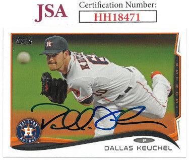 Dallas Keuchel signed 2014 Topps Baseball Card #482- JSA #HH18471 (Houston Astros) PSM-Powers Sports Memorabilia