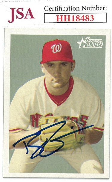 Ryan Zimmerman signed 2006 Bowman Heritage Baseball Card #268- JSA #HH18483 (Washington Nationals) PSM-Powers Sports Memorabilia
