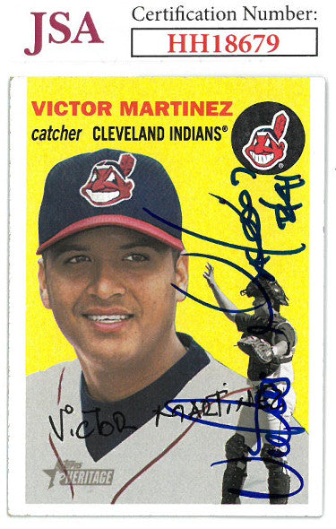Victor Martinez signed 2003 Topps Heritage Baseball Card #324- JSA #HH18679 (Cleveland Indians) PSM-Powers Sports Memorabilia