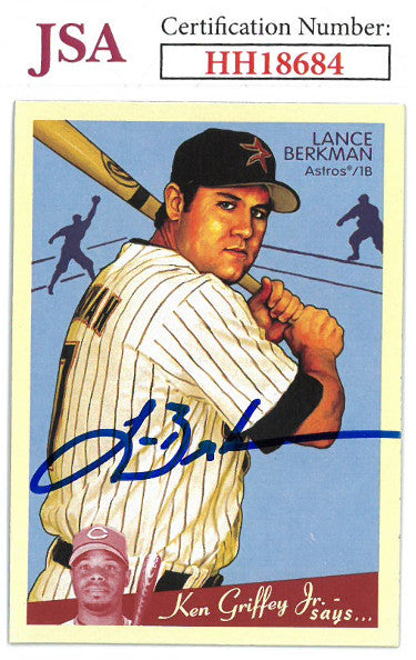 Lance Berkman signed 2008 Upper Deck Baseball Card #80- JSA #HH18684 (Houston Astros) PSM-Powers Sports Memorabilia
