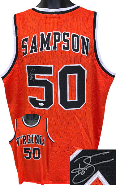 Ralph Sampson signed Virginia Cavaliers Orange Custom Stitched College Basketball Jersey XL- JSA Witnessed PSM-Powers Sports Memorabilia