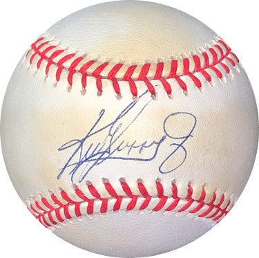 Ken Griffey, Jr. signed ROAL Rawlings Official American League Baseball minor toning- JSA #II11954 (Seattle Mariners) PSM-Powers Sports Memorabilia