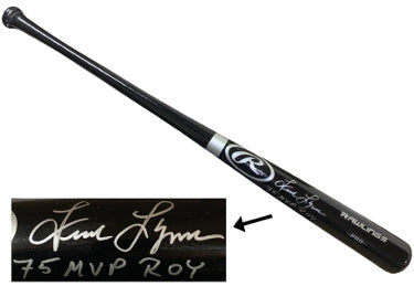 Fred Lynn signed Rawlings Pro Black Bat 75 MVP ROY- JSA Witnessed (Boston Red Sox) PSM-Powers Sports Memorabilia