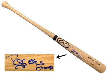 Darryl Strawberry signed Rawlings Pro Blonde Bat 86 WS Champs- JSA Witnessed (New York Mets) PSM-Powers Sports Memorabilia