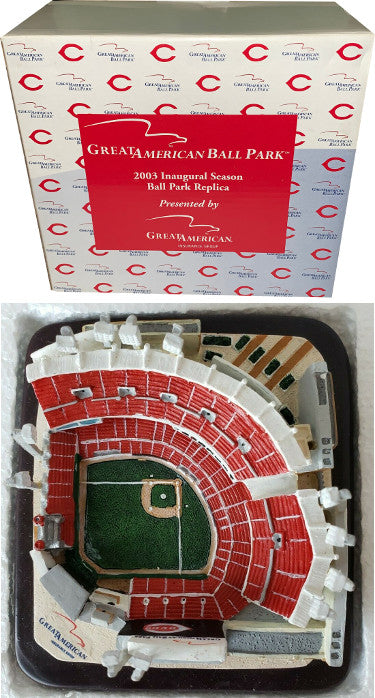 Cincinnati Reds Great American Ball Park Replica Stadium 2003 Inaugural Season MLB SGA- New In Original Box PSM-Powers Sports Memorabilia