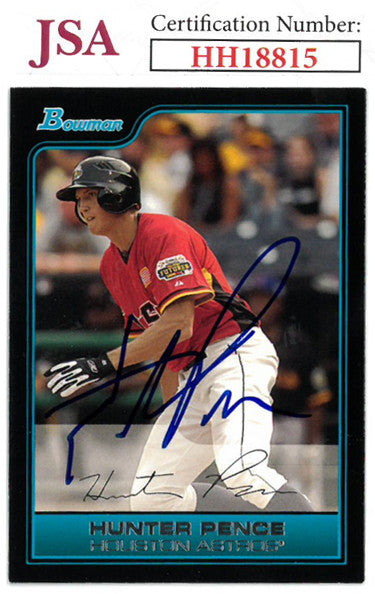 Hunter Pence signed 2006 Bowman Baseball Card #FG18- JSA #HH18815 (Houston Astros) PSM-Powers Sports Memorabilia
