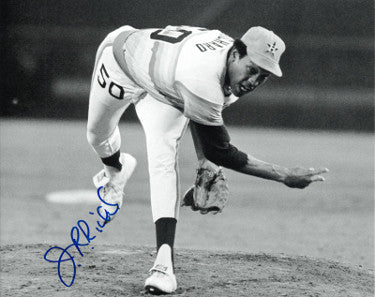 JR Richard signed Houston Astros B&W 8x10 Photo PSM-Powers Sports Memorabilia