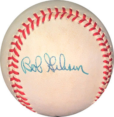 Bob Gibson signed RONL Rawlings Official National League Baseball toned (St. Louis Cardinals) PSM-Powers Sports Memorabilia