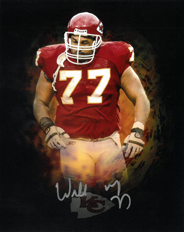 Willie Roaf signed Kansas City Chiefs Splash Logo 8x10 Photo #77 PSM-Powers Sports Memorabilia