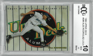 Alex Rodriguez Seattle Mariners 1994 Upper Deck Alumni Rookie Baseball Card #298- Beckett/BCCG Graded 10 Mint PSM-Powers Sports Memorabilia