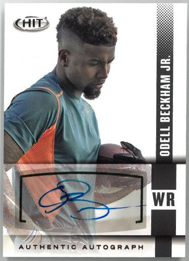 Odell Beckham, Jr. signed 2014 Sage HIT Rookie Football Card (RC) #A103 (LSU/NY Giants) PSM-Powers Sports Memorabilia