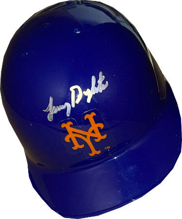 Lenny Dykstra signed New York Mets MLB Riddell Mini Batting Helmet– JSA Witnessed #W698012 (w/ stand) PSM-Powers Sports Memorabilia