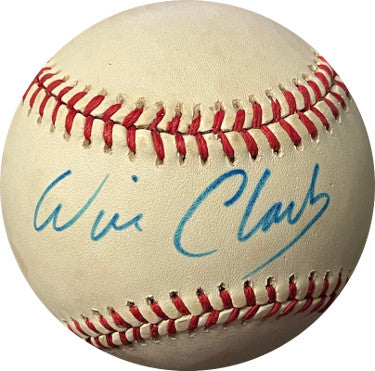 Will Clark signed RONL Rawlings Official National League Baseball tone spots (San Francisco Giants) PSM-Powers Sports Memorabilia