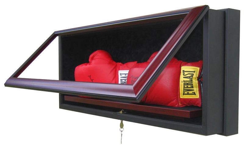 2 BOXING GLOVE DISPLAY CASE-Powers Sports Memorabilia