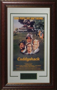 Caddyshack unsigned Vintage Movie Poster Leather Framed 20x28 (entertainment/photo) PSM-Powers Sports Memorabilia