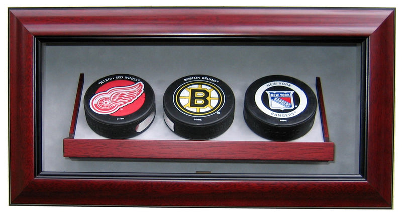 3 HOCKEY PUCK DISPLAY CASE-Powers Sports Memorabilia