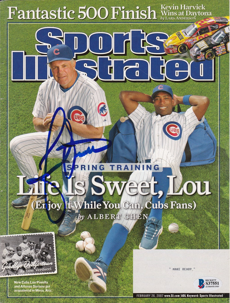 Lou Piniella Chicago Cubs Signed Sports Illustrated Magazine Cover BAS PSM-Powers Sports Memorabilia
