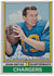Johnny Unitas San Diego Chargers Signed Topps #150 Football Card JSA PSM-Powers Sports Memorabilia