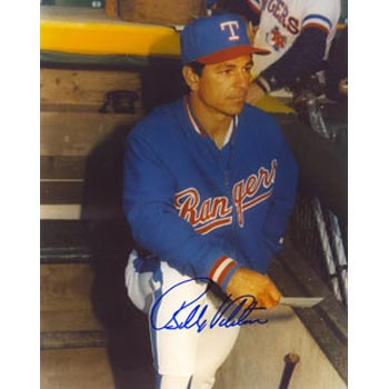 Bobby Valentine Texas Rangers Autographed 8x10 Photo. This item comes with a certificate of authenticity from Autograph-Sports. PSM-Powers Sports Memorabilia
