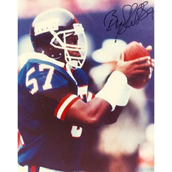 Byron Hunt New York Giants Autographed 8x10 Photo. This item comes with a certificate of authenticity from Autograph-Sports. PSM-Powers Sports Memorabilia