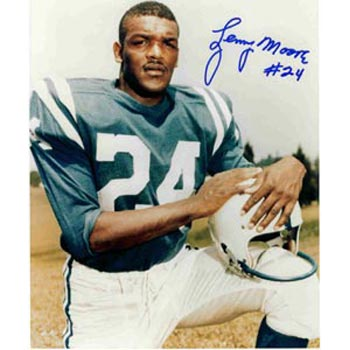 Lenny Moore Baltimore Colts Autographed 8x10 Photo. This item comes with a certificate of authenticity from Autograph-Sports. PSM-Powers Sports Memorabilia