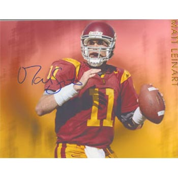 Matt Leinart USC Trojans Autographed 8.5x11 Photo. This item comes with a certificate of authenticity from Autograph-Sports. PSM-Powers Sports Memorabilia