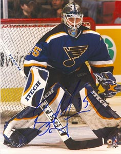 Brent Johnson St. Louis Blues Autographed 8x10 Photo. This item comes with a certificate of authenticity from Autograph-Sports. PSM-Powers Sports Memorabilia