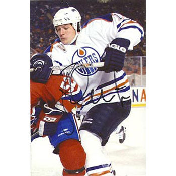 Brad Isbister Edmonton Oilers Autographed 4x6 Photo. This item comes with a certificate of authenticity from Autograph-Sports. PSM-Powers Sports Memorabilia