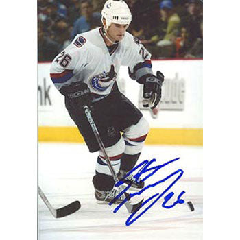 Steve McCarthy Vancouver Canucks Autographed 4x6 Photo. This item comes with a certificate of authenticity from Autograph-Sports. PSM-Powers Sports Memorabilia
