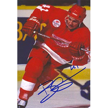 Brent Gilchrist Detroit Red Wings Autographed 4x6 Photo. This item comes with a certificate of authenticity from Autograph-Sports. PSM-Powers Sports Memorabilia