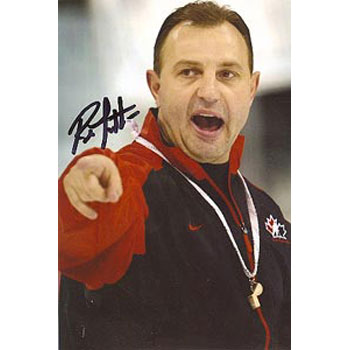 Brent Sutter Team Canada Autographed 4x6 Photo. This item comes with a certificate of authenticity from Autograph-Sports. PSM-Powers Sports Memorabilia
