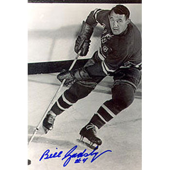 Bill Gadsby New York Rangers Autographed 4x6 Photo. This item comes with a certificate of authenticity from Autograph-Sports. PSM-Powers Sports Memorabilia
