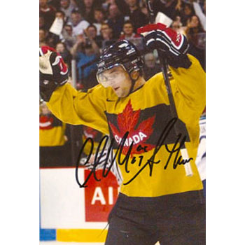 Clarke MacArthur Team Canada Autographed 4x6 Photo. This item comes with a certificate of authenticity from Autograph-Sports. PSM-Powers Sports Memorabilia