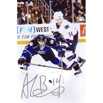 Alex Burrows Vancouver Canucks Autographed 4x6 Photo. This item comes with a certificate of authenticity from Autograph-Sports. PSM-Powers Sports Memorabilia
