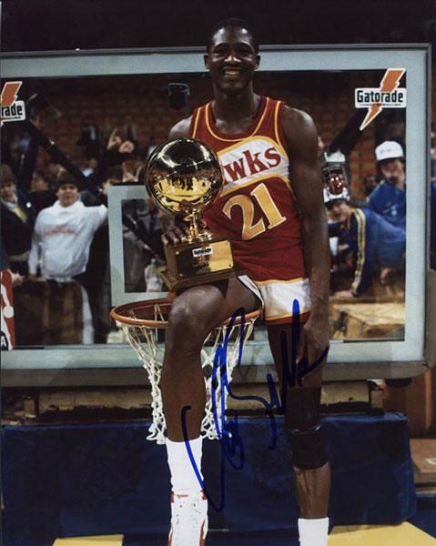 Dominique Wilkins Signed 8x10 Photo PSM-Powers Sports Memorabilia