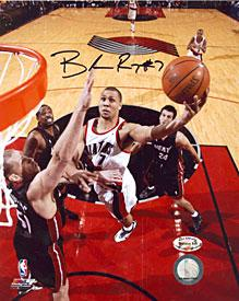 Brandon Roy Autographed / Signed Lay Up vs. Heat Portland Trail Blazers 8x10 Photo PSM-Powers Sports Memorabilia