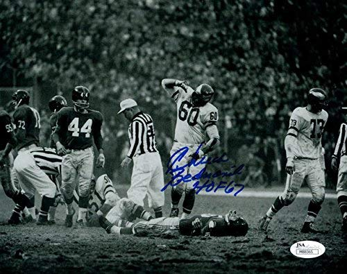 Chuck Bednarik Autographed Philadelphia Eagles 8x10 Photo HOF JSA PSM-Powers Sports Memorabilia