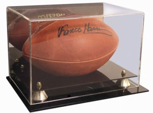 Football Deluxe Display Case Mirror Back PSM