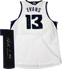 Tyreke Evans Autographed / Signed Sacramento Kings White Jersey PSM-Powers Sports Memorabilia
