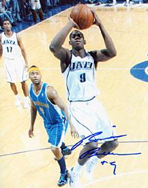 Ronnie Brewer Autographed / Signed Utah Jazz Basketball 8x10 Photo PSM-Powers Sports Memorabilia