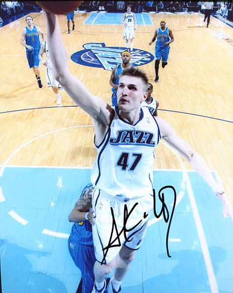 Andrei Kirolenko Autographed / Signed Utah Jazz 8x10 Photo PSM-Powers Sports Memorabilia