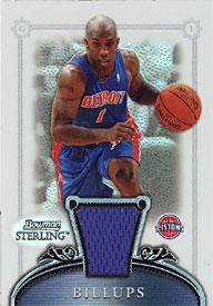 Chauncey Billups 2007 Topps Bowman Sterling Refractor Card PSM-Powers Sports Memorabilia