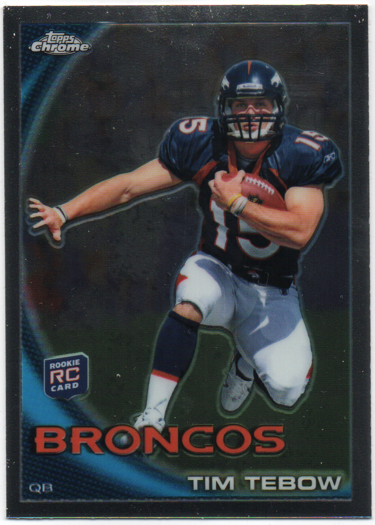 Tim Tebow 2010 Topps Chrome Rookie Card PSM-Powers Sports Memorabilia