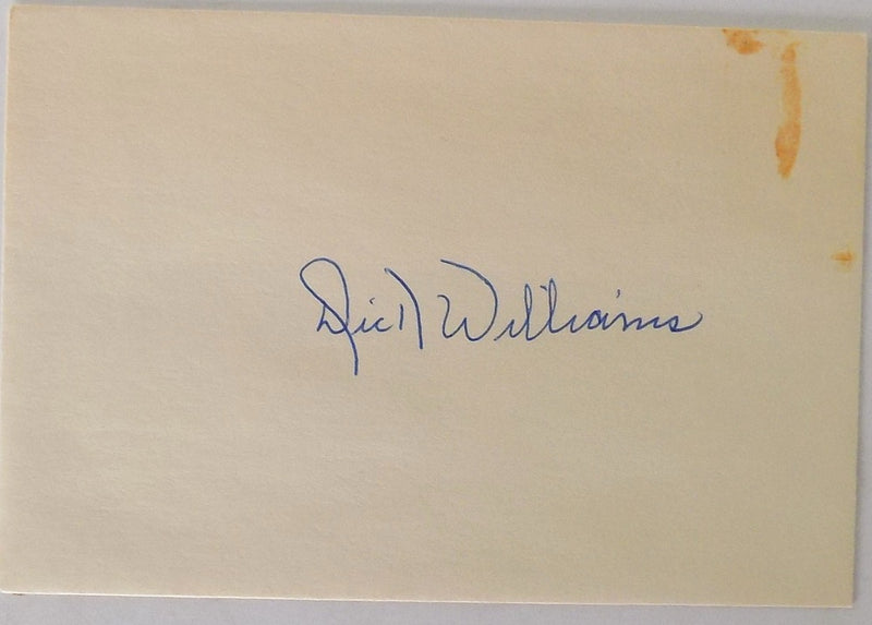 Dick Williams San Diego Padres Signed Envelope PSM-Powers Sports Memorabilia