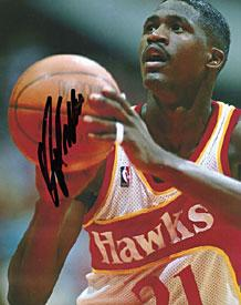 Dominique Wilkins Autographed / Signed Free Throw Atlanta Hawks 8x10 Photo PSM-Powers Sports Memorabilia