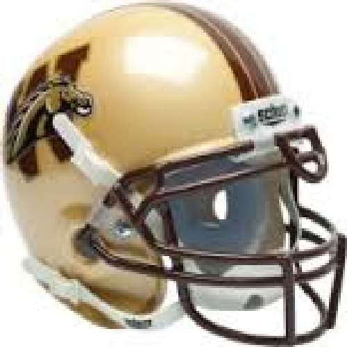Western Michigan Broncos Mini XP Authentic Helmet Schutt PSM-Powers Sports Memorabilia