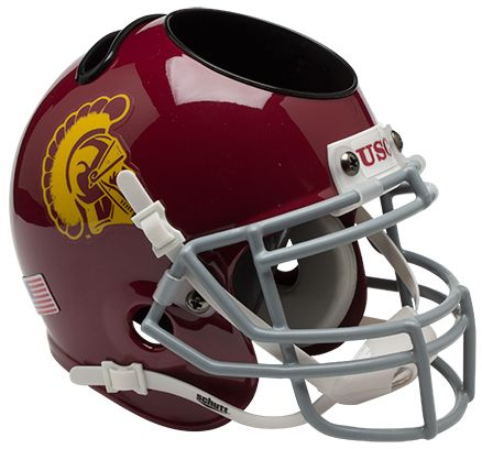 USC Trojans Miniature Football Helmet Desk Caddy PSM-Powers Sports Memorabilia