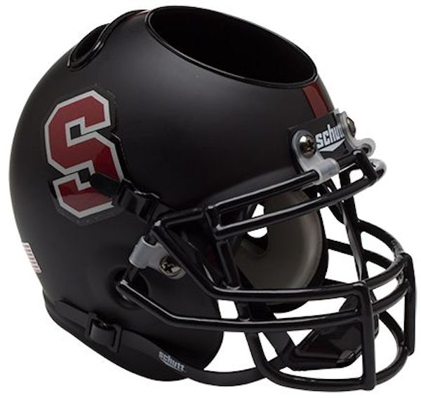 Stanford Cardinal Miniature Football Helmet Desk Caddy B Matte Black B PSM-Powers Sports Memorabilia