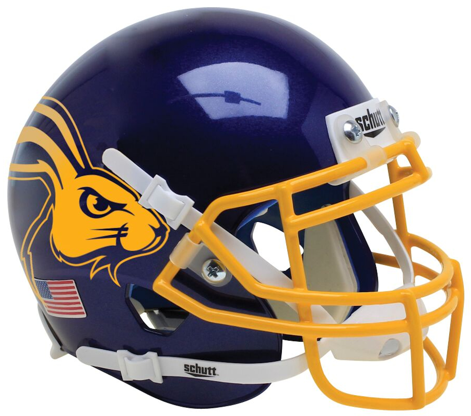 South Dakota State Jackrabbits Mini XP Authentic Helmet Schutt B Jackrabbit B PSM-Powers Sports Memorabilia